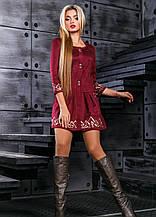 Молодіжне коктейльне плаття бордового кольору