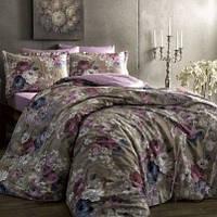 ТАС Digital евро комплект постельного белья сатин Jasmine gri