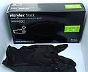 Перчатки резиновые нитрил чёрный Mercator (50 пар/упаковка) (10 упаковок в ящике), фото 2