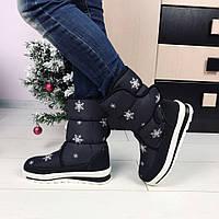 Дутики Женская зимняя обувь Сапоги на липучке , фото 1