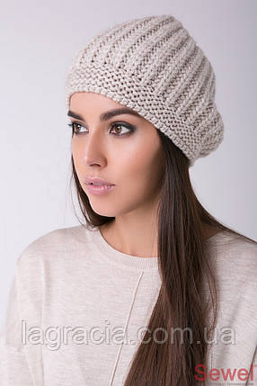Женская модная вязаная шапка, фото 2
