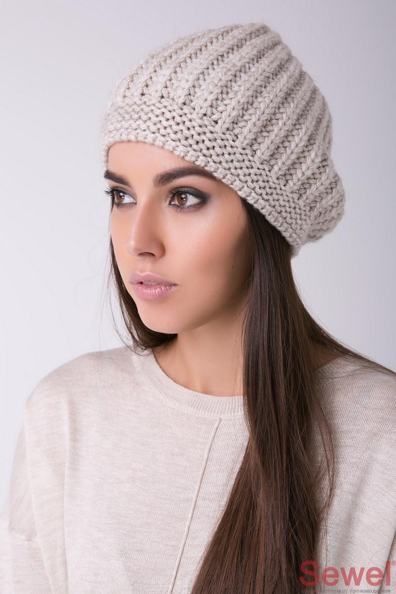 Женская модная вязаная шапка