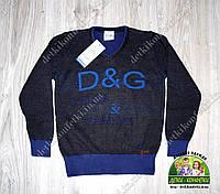 Пуловер D&G с V-образным вырезом