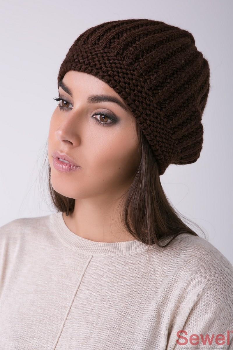 Теплая зимняя женская шапка