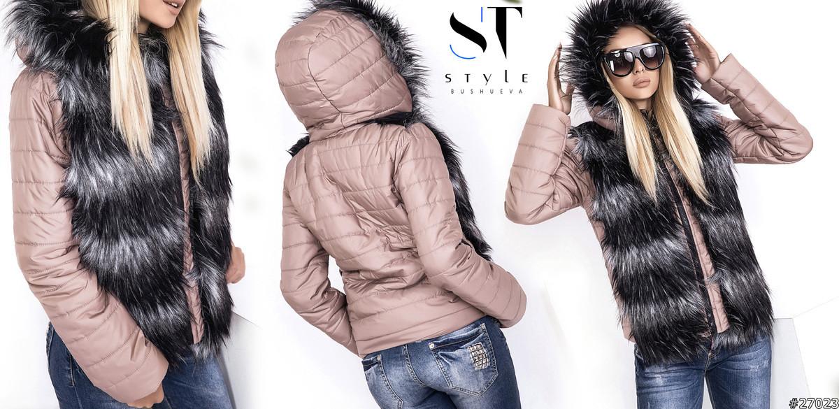 Оригинальный вариант верхней одежды для стильных и уверенных в себе девушек.