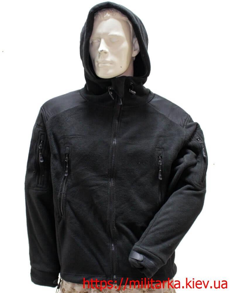 Флисовая кофта Tactical Shell с капюшоном черная