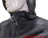Флисовая кофта Tactical Shell с капюшоном черная, фото 3