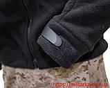 Флисовая кофта Tactical Shell с капюшоном черная, фото 5