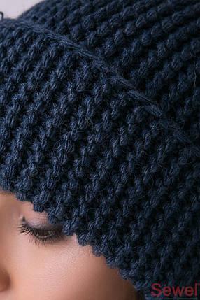 Вязаная теплая женская шапка, фото 2