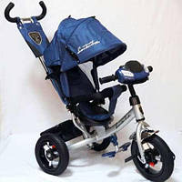 Велосипед трехколесный Azimut Air Lambortrike L2B ( Lamborghini)синий надувные колеса с фарой