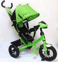Велосипед трехколесный Azimut Air Lambortrike L2B ( Lamborghini)зеленый надувные колеса с фарой