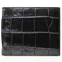 Портмоне из кожи крокодила (живот) ALM 03 B Black