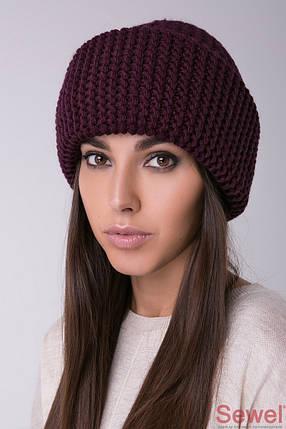 Вязаная теплая шапка женская, фото 2