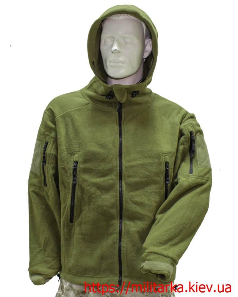 Флисовая кофта Tactical Shell с капюшоном олива