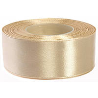 Мягкая сатиновая лента Премиум (38 мм) беж