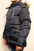 Куртки-аляски темно-синего цвета для мальчиков от 8 до 16 лет (134-164см) Фирма-S&D Венгрия.