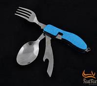 Нож туристический с ложкой, вилкой и открывалкой