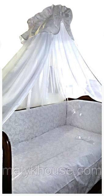 Комплект в детскую кроватку из 8 элементов Элит