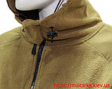 Флисовая кофта Tactical Shell с капюшоном койот, фото 5