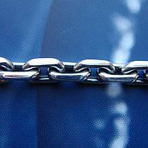 Серебряная цепочка, 600мм, 41 грамм, якорное плетение, фото 3