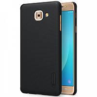 Чехол Nillkin Frosted для Samsung G615 Galaxy J7 Max черный (+пленка)