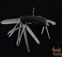 Нож многофункциональный с отверткой, открывалкой, ножницами, щипцами и пилкой