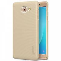 Чехол Nillkin Frosted для Samsung G615 Galaxy J7 Max золотой (+пленка)