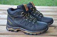 Зимние подростковые кожаные ботинки Columbia черного цвета Columbia  (122)