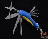 Нож туристический многофункциональный с отверткой, штопором и ножницами