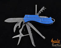 Нож туристический многофункциональный с металлической рукояткой и отверткой
