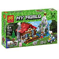 """Конструктор Minecraft Lele 33018 """"Домик в горах (3 в 1)"""" (аналог Lego Creator 31025), 592 дет"""
