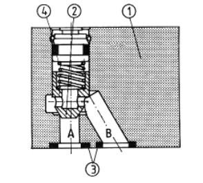 Обратный клапан для установки на плиту uzzb06x