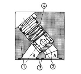 Зворотний клапан для установки на плиту uzzb20x