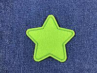Нашивка звездочка цвет салатовый m 70x68 мм