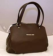 Женская сумка Michael Kors с двумя змейками, цвет коричневый Майкл Корс MK