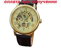 Мужские механические часы скелет скелетон Winner Skeleton Gold NEW!, фото 1