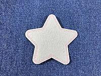 Нашивка звездочка цвет серый m 70x68 мм