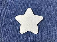 Нашивка звездочка цвет белый m 70x68 мм