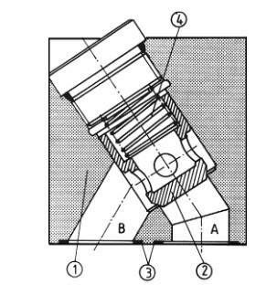 Обратный клапан для установки на плиту uzzb32x