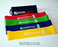 Набор резиновых лент эспандеров WODFitters Mini Bands (сумочка для хранения, премиум качество)