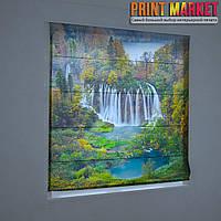 Фотошторы римские водопады в лесу