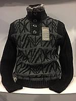 Мужской теплый свитер на пуговицах XL