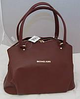 Женская сумка Michael Kors с двумя змейками, цвет бордовый Майкл Корс MK