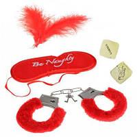 Набор для эротических игр (красный, черный, розовый)