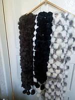 Женские шарфы из натурального меха кролика.