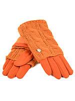PODIUM Перчатка Женская вязка F15/1 оранж Распродажа