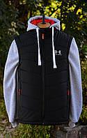 Утепленная куртка-жилет для мужчин и подростков.Новая коллекция спортивной мужской одежды!