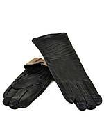 Перчатка Женская кожа F24/17 мод13 black шерсть