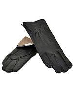 PODIUM Перчатка Женская кожа F24/17 мод7 black шерсть