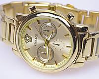 Женские наручные часы VERSACE Gold кварц (реплика), фото 1